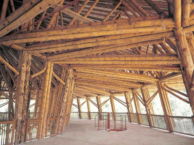 pavillon en bambou