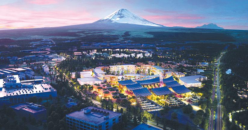 Wowen city au pied du mont Fuji